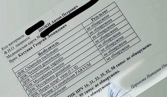 Антон Шоки сдал анализы на ЗППП